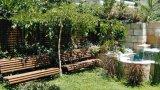 ספסלי עץ לגינה
